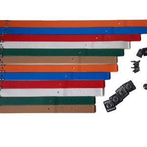Euroflex Wisselbanden met plaatjes, gespen, drukknoppen en schroeven