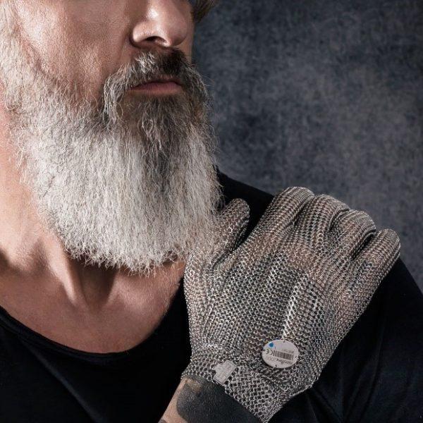 Officiële foto van een Niroflex 2000 roestvrijstalen handschoen