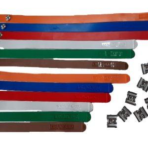 Niroflex wisselbanden met ingebouwde drukknopen en meegeleverde drukknop