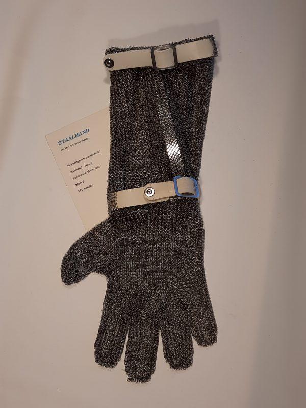 Staalhand handschoen met 19 centimeter manchet